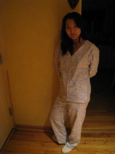 Yenari in her newly made PJs