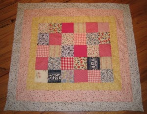 Old quilting project brought back to life as a new blanket