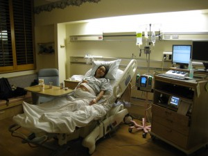 Yenari in the delivery room